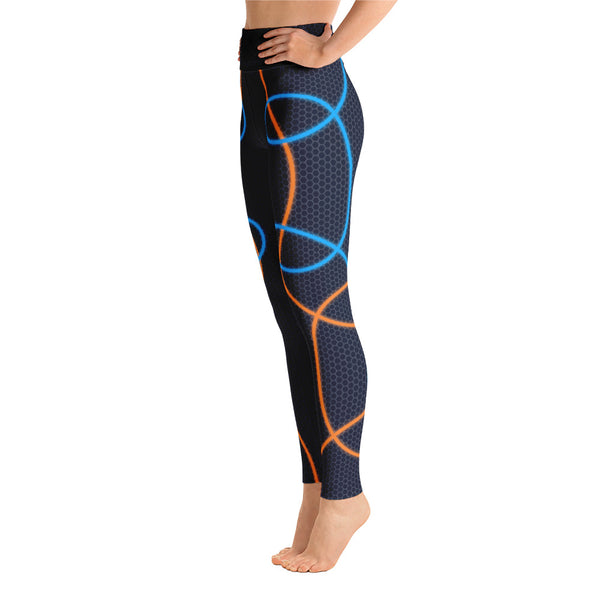 Colorful Abstract Neon Athletic Yoga Leggings