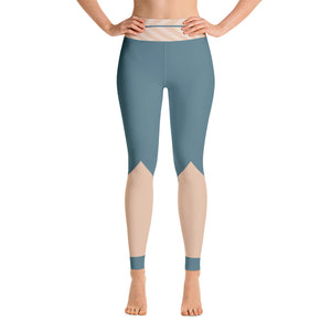 Colorful Turquoise Athletic Yoga Leggings