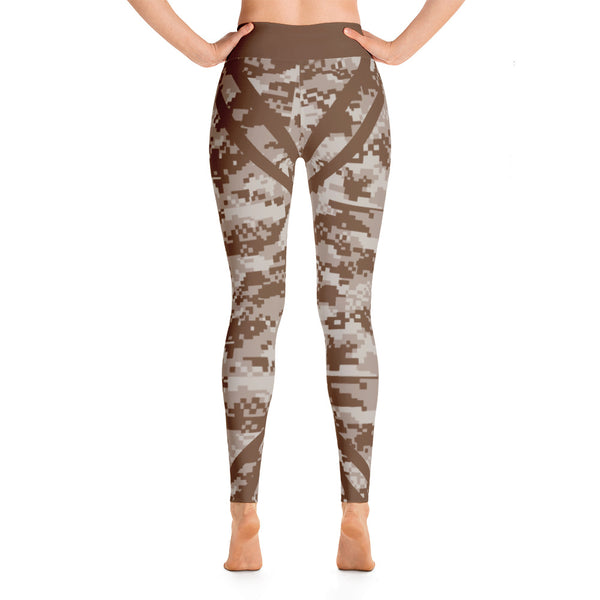 Patterned Camo Brown Yoga Leggings