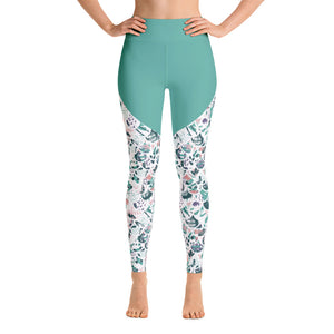 Patterned Mermaid Running Workout Yoga Leggings