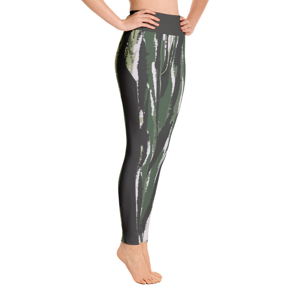 Vertical Striped Camo Yoga Leggings