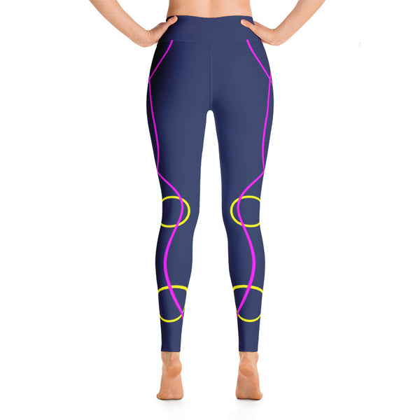 Colorful Abstract Neon Colored Yoga Leggings