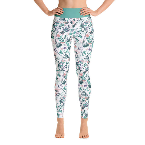 Patterned Mermaid Abstract Athletic Yoga Leggings