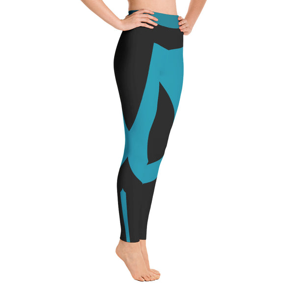 Patterned Black Athletic Yoga Leggings