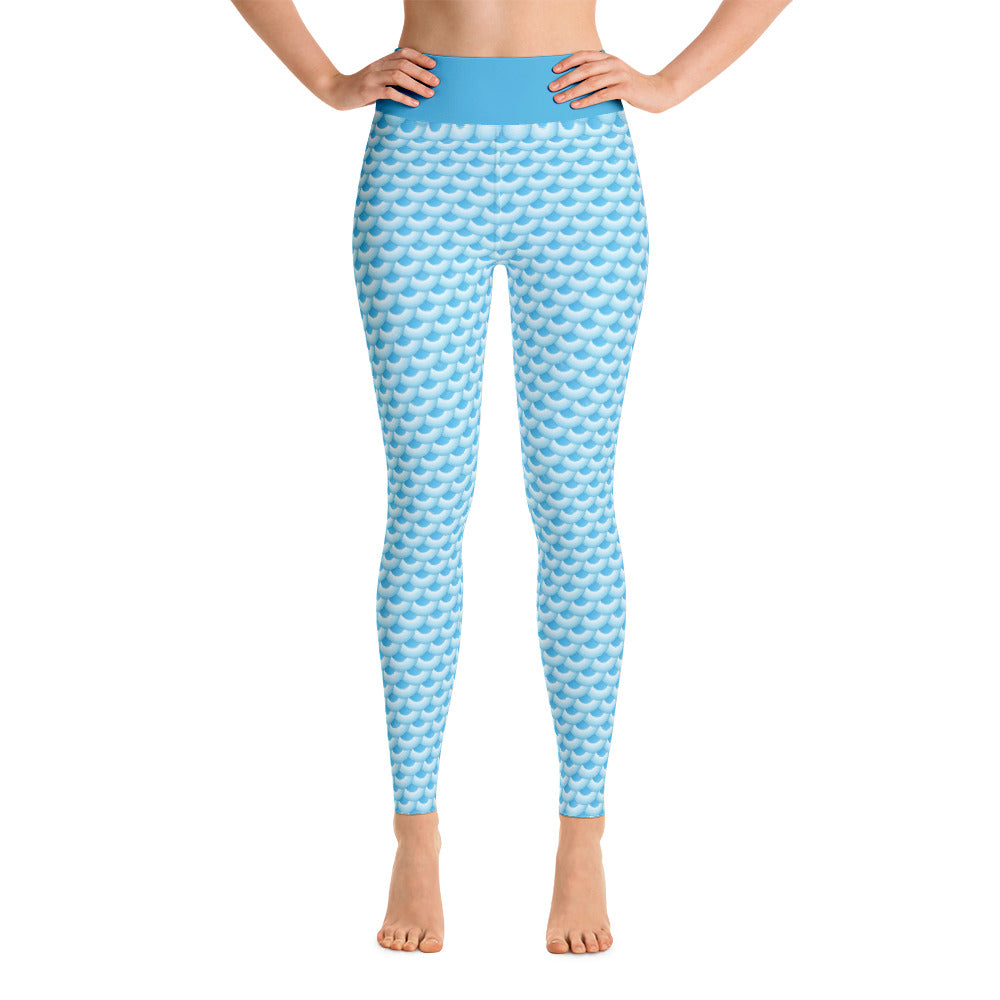 Patterned Mermaid Colored Workout Yoga Leggings
