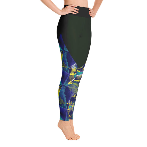 Abstract Yoga Leggings, Leggings With Space Print Yoga Leggings, LovelyEventsCrafts Leggings