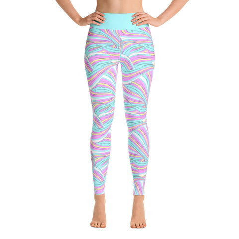 Mermaid Leggings pink mint Yoga
