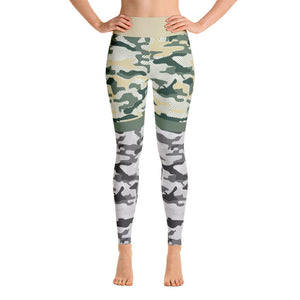 Camo Gray-Green Athletic Yoga Leggings