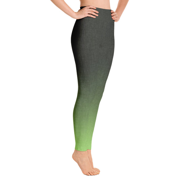 Colorful Ombre Gray Green Leggings