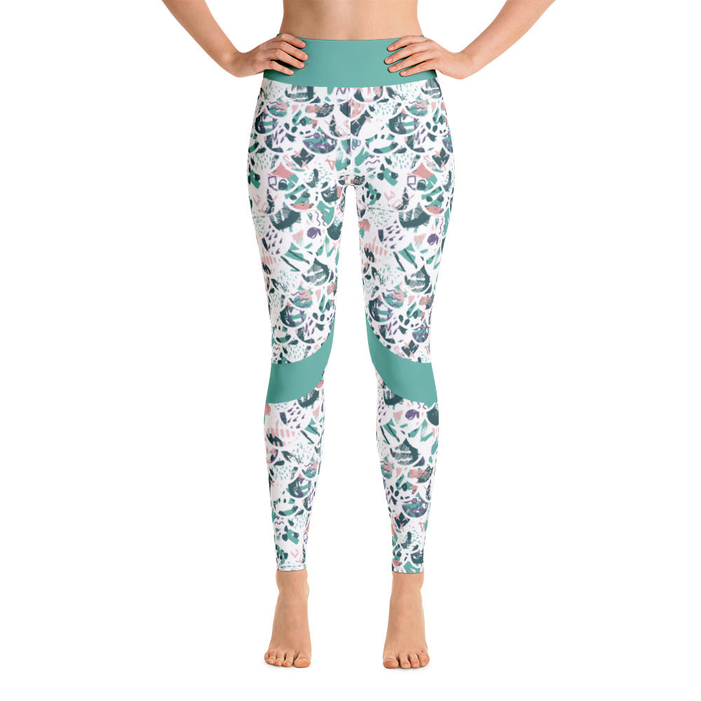 Patterned Mermaid Abstract Workout Yoga Leggings