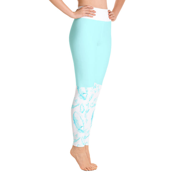 Cute Blue Сrystals Yoga Leggings