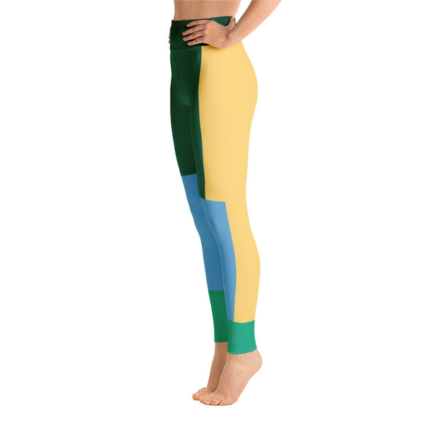 Colorful Abstract  Running For Girls Yoga Leggings