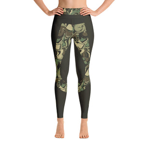 Camouflage Patterned Green Yoga Leggings
