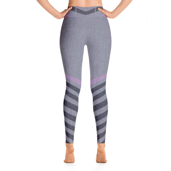 Patterned Striped Multi Colored Yoga Leggings