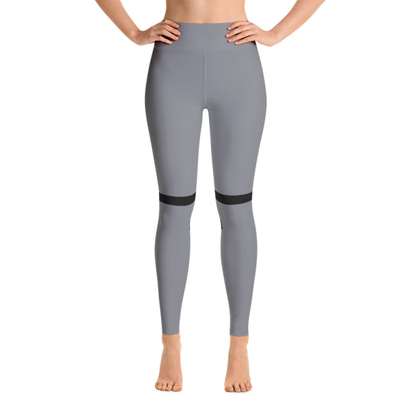 Colorful Black-Gray Workout Yoga Leggings