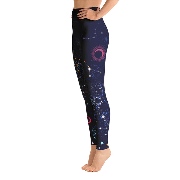 Dark galaxy Print Yoga Legging