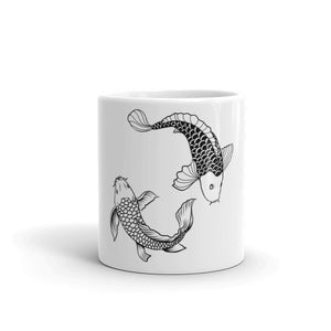 Ceramic coffee mug with fish on them