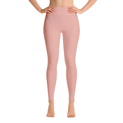 Patterned Minimalism Pink Yoga Leggings