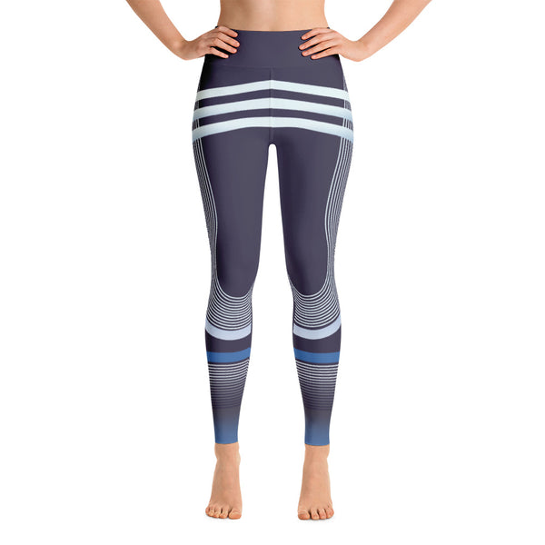 Colorful Abstract Striped Workout Yoga Leggings