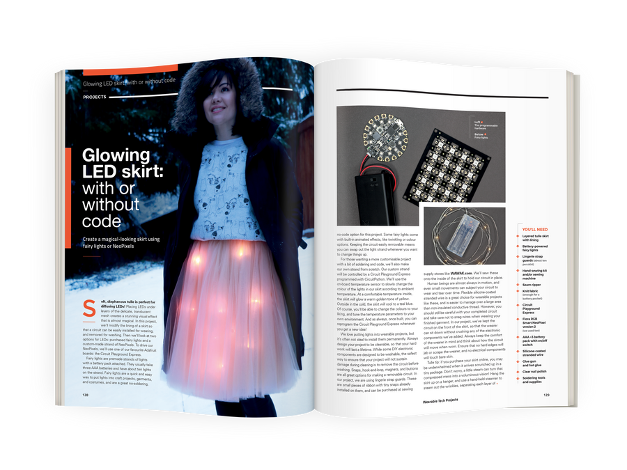 Wearable Tech Projects book example pages 2