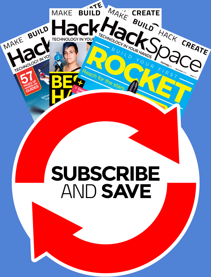 HackSpace magazine rolling monthly subscription