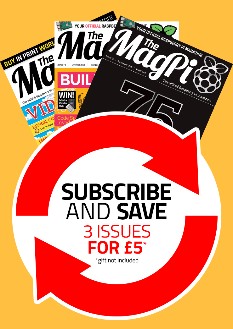 The MagPi magazine quarterly subscription (recurring)