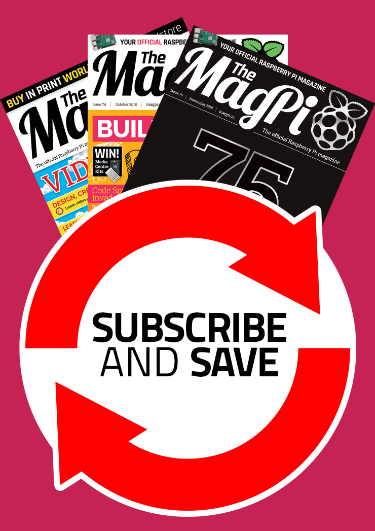 The MagPi magazine rolling monthly subscription