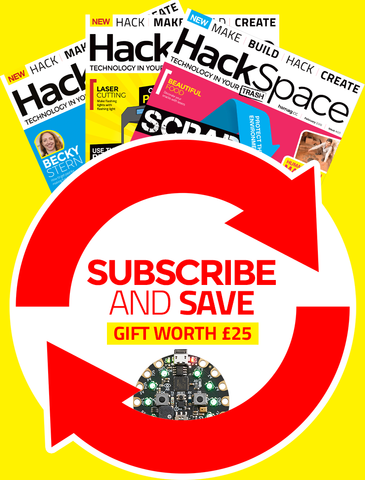 HackSpace magazine 12 month subscription