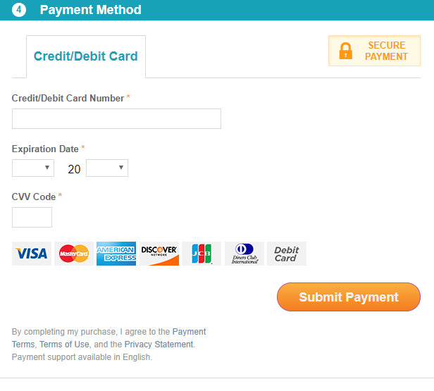 Payment method - 2Checkout payment