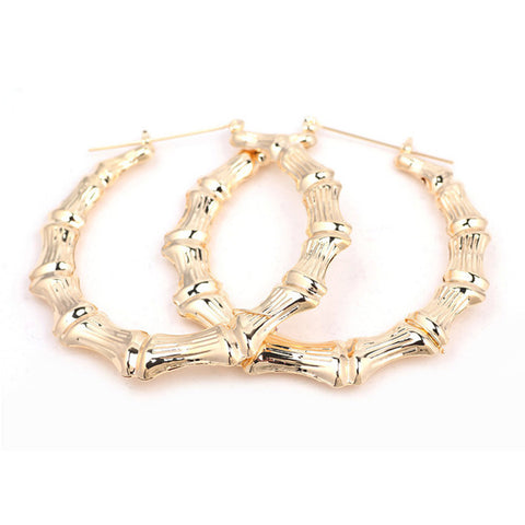 Bamboo hoops with gold tone - eVita Market