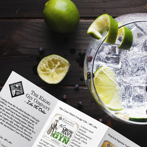 The Crow Man's Gin Tastings from the Kelso Gin Company