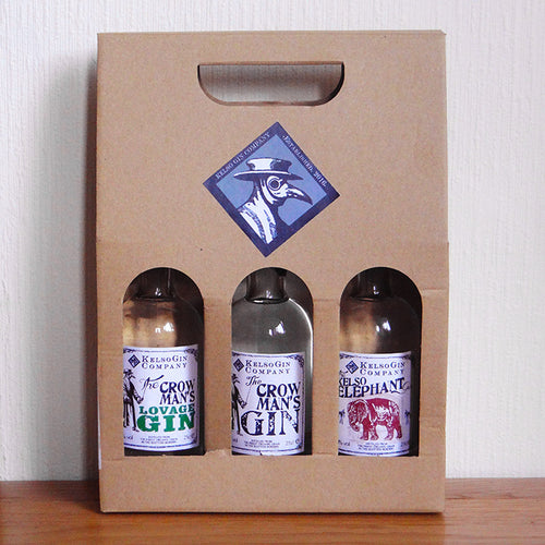 Kelso Gin Gift Pack 3 x 25 cl bottles. The perfect way to sample the range.