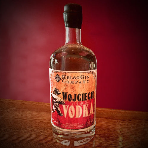 Wojciech Vodka from the Kelso Gin Company. The first Scottish Borders Vodka.