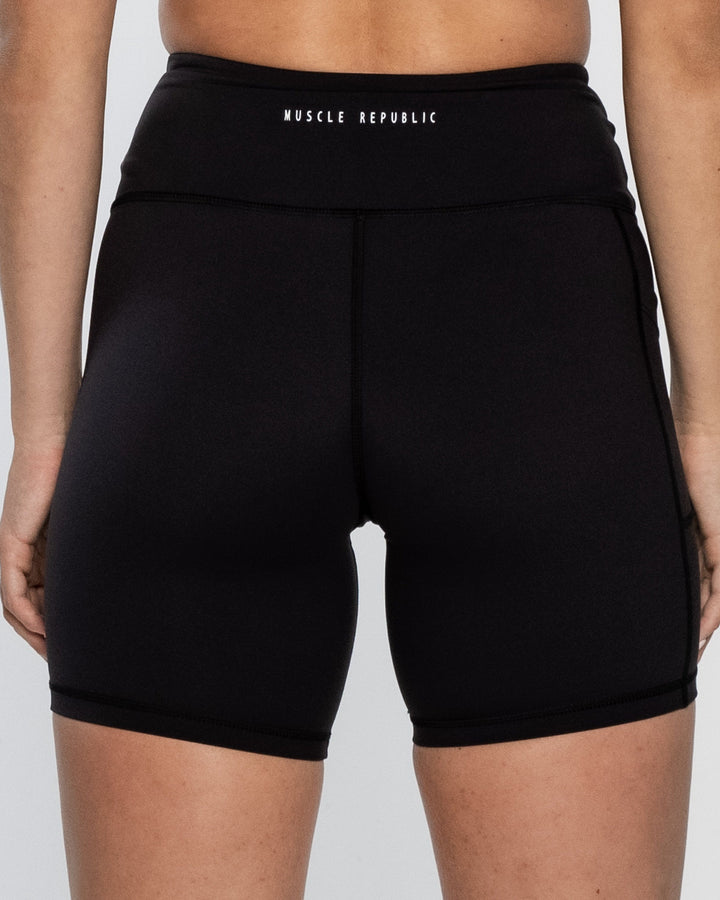 Ladies Shorts - BIKER SHORTS HOMETOWN BLACK