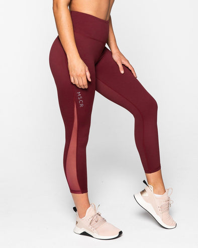LEGGINGS - BREATHE 7/8 LEGGINGS BURGUNDY