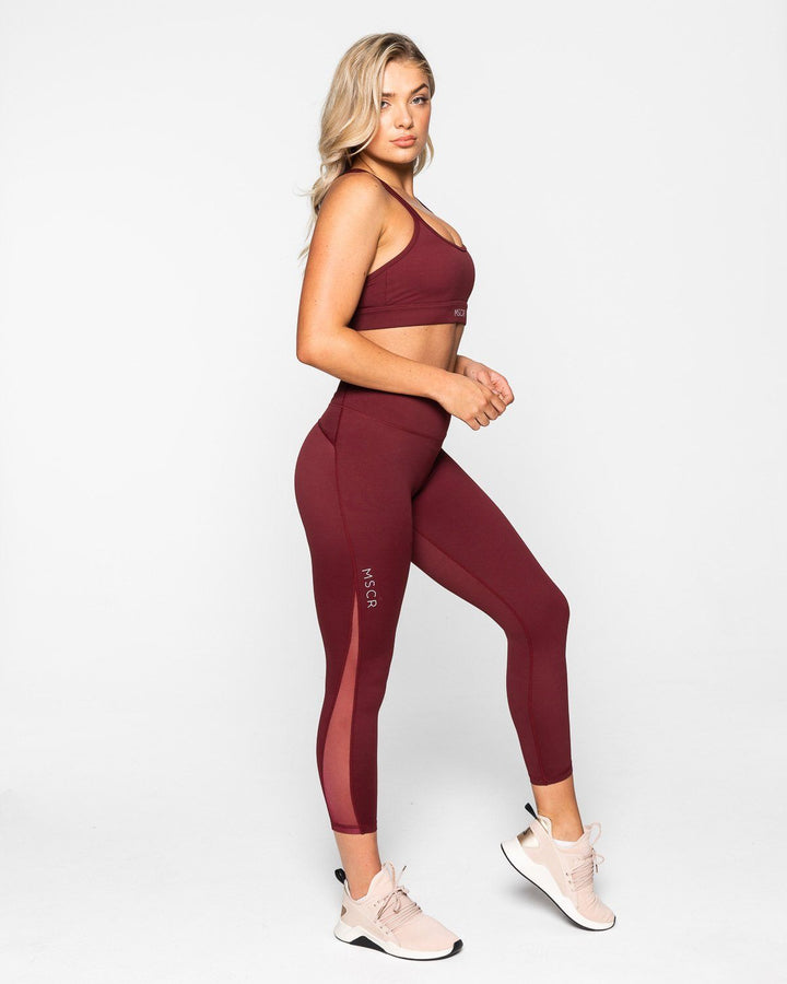 BREATHE 7/8 LEGGINGS BURGUNDY