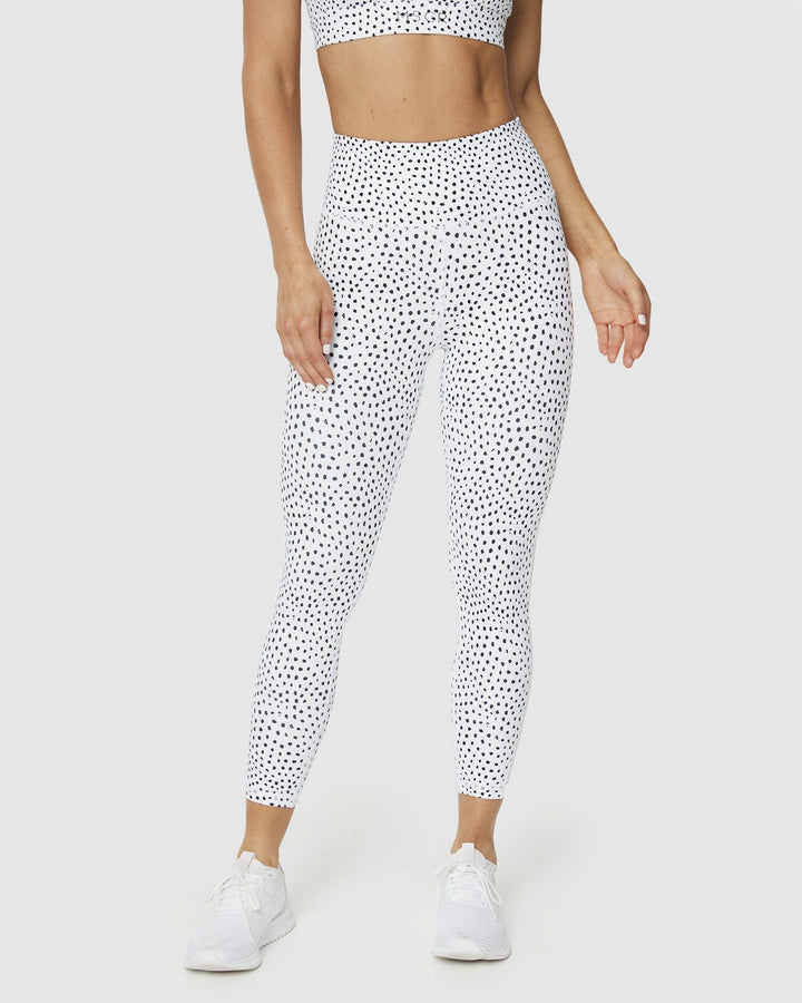 LEGGINGS - BREATHE 7/8 LEGGINGS SPECKLED WHITE