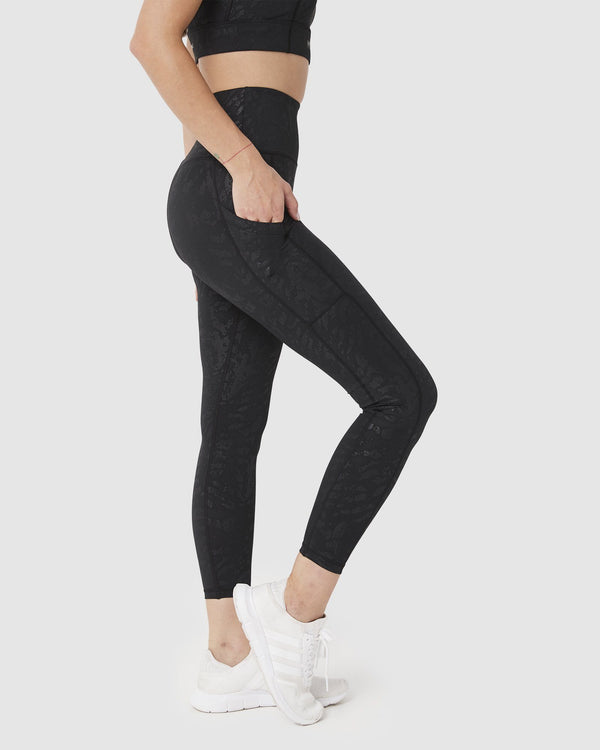 LEGGINGS - ELEVATE 7/8 LEGGINGS BLACK CEO