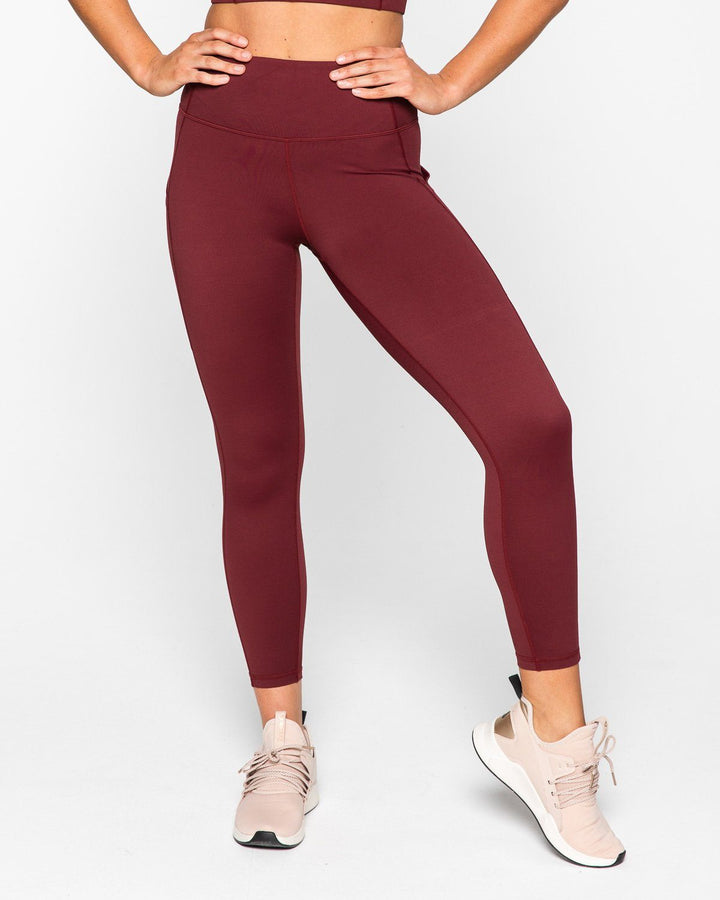 ELEVATE 7/8 LEGGINGS BURGUNDY