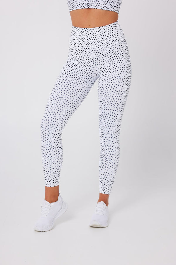LEGGINGS - ELEVATE 7/8 LEGGINGS SPECKLED WHITE