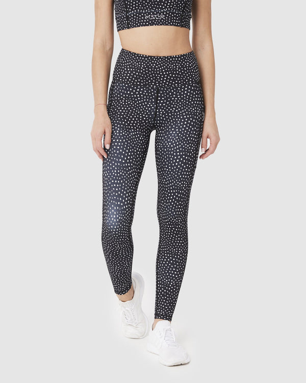 LEGGINGS - ELEVATE FULL LEGGINGS SPECKLED BLACK