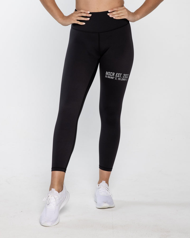 LEGGINGS - HOMETOWN 7/8 LEGGINGS BLACK