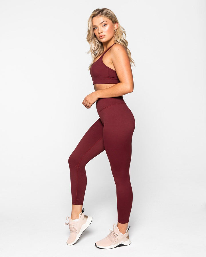 LEGGINGS - INSPIRE FULL LEGGINGS BURGUNDY