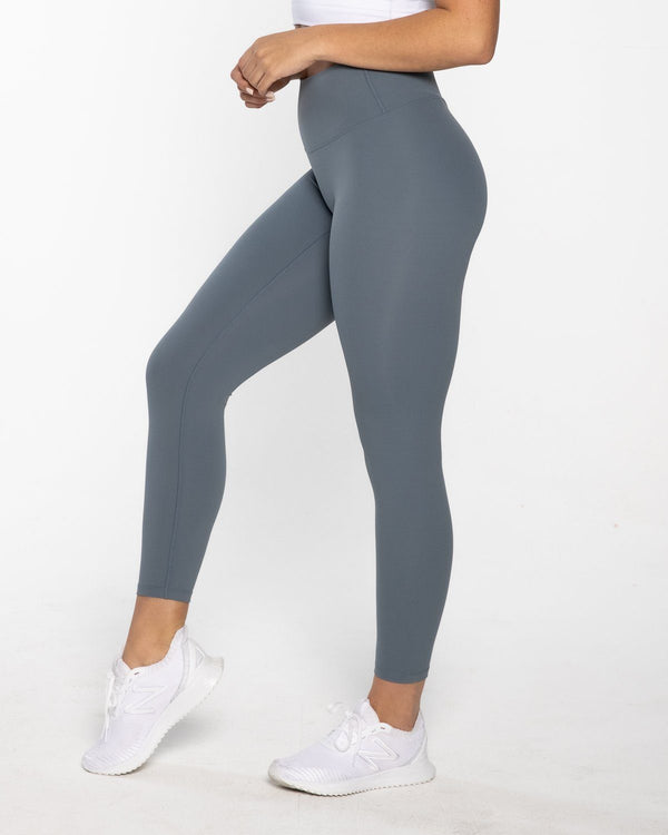 LEGGINGS - LUXE 7/8 LEGGING BLUE SHADOW