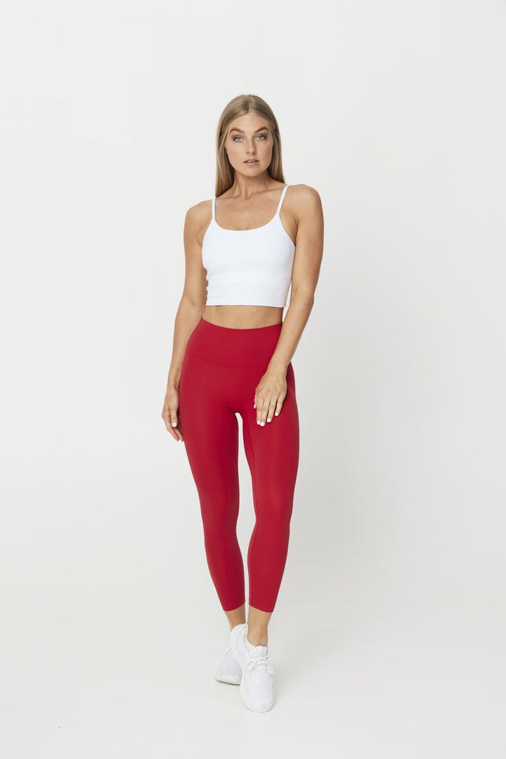 LEGGINGS - LUXE 7/8 LEGGING RED