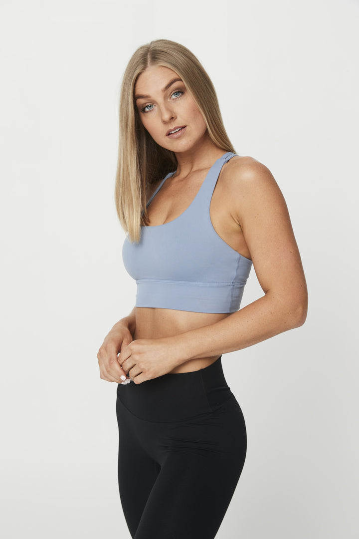 LUXE STRAPPY BRA BLUE LAKE