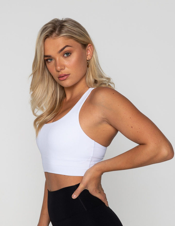 LUXE STRAPPY BRA WHITE