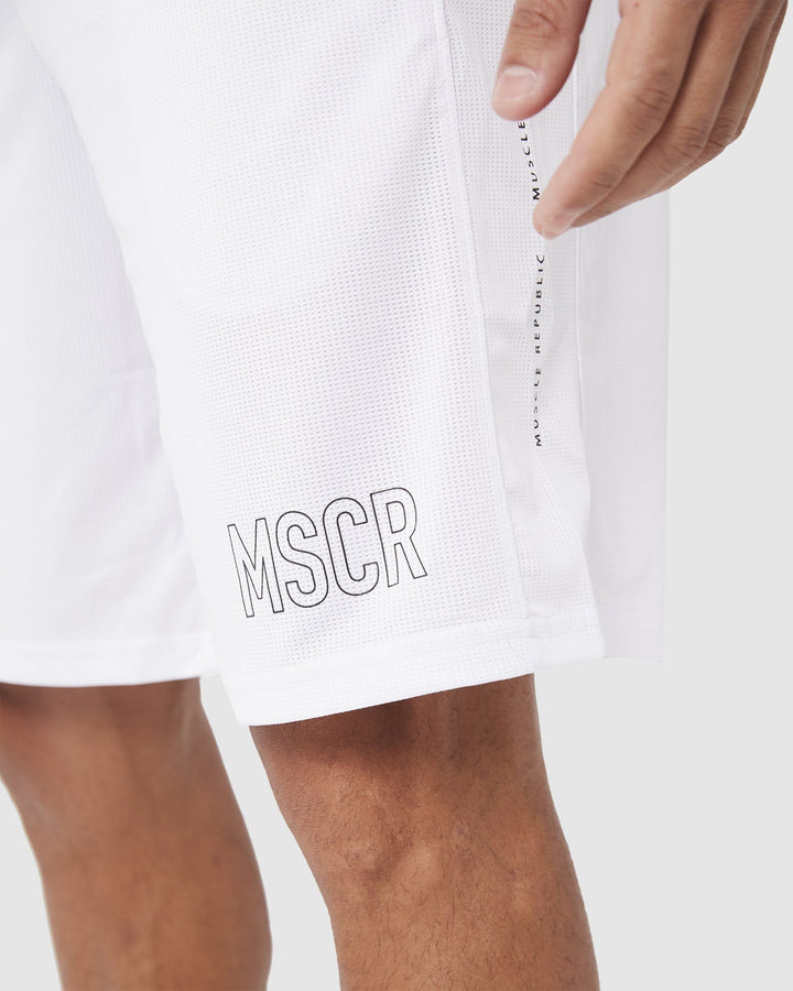 MENS SHORTS - BALLER SHORT WHITE