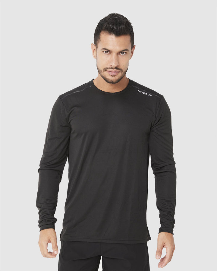 MENS TOPS - ASPIRE TRAINING LONG SLEEVE BLACK