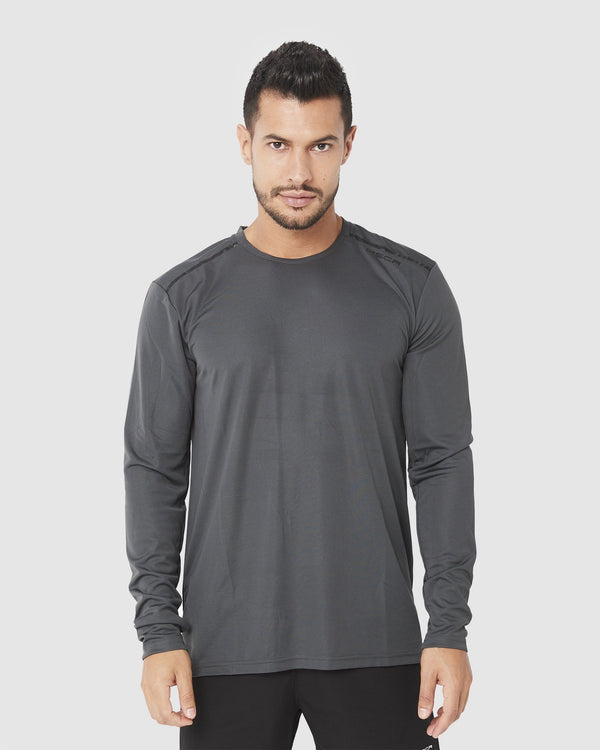 MENS TOPS - ASPIRE TRAINING LONG SLEEVE CHARCOAL